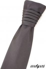 Matowy szary krawat ślubny