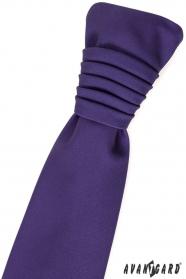 Ciemnofioletowy angielski ślubny krawat