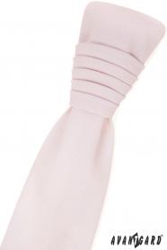 Angielski krawat z poszetką - różowy