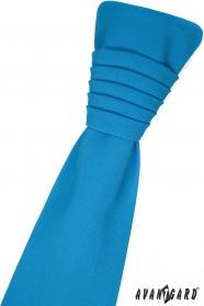 Turkusowy angielski krawat z poszetką
