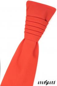 Ciemnopomarańczowy angielski krawat