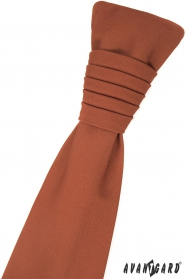 Cynamonowy brązowy angielski krawat