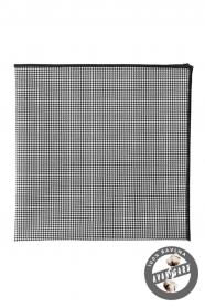 Czarno-biała poszetka ze 100% bawełny