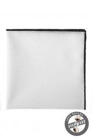 Biała poszetka 100% bawełniana czarna ramka
