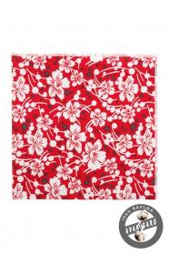 Czerwono biała bawełniana poszetka