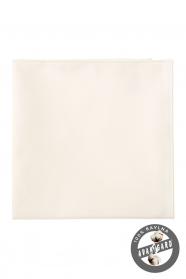 Kremowa poszetka męska ze 100% bawełny