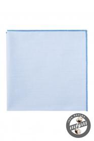 Niebieska bawełniana poszetka męska