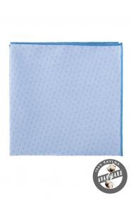 Jasnoniebieska bawełniana poszetka delikatny wzór