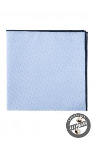 Poszetka niebiesko-czarna bawełniana