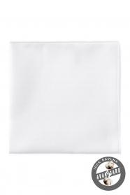 Biała bawełniana poszetka o drobnej strukturze
