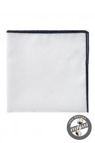 Poszetka 100% bawełna biała niebieska