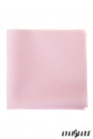 Delikatna różowa poszetka dla mężczyzn