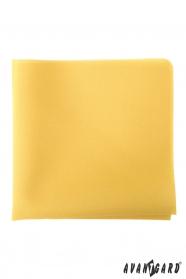 Żółta poszetka w musztardowym kolorze