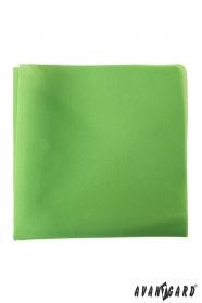 Poszetka poliestrowa męska zielona