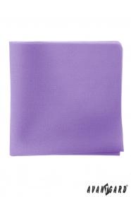 Poszetka męska w kolorze liliowym