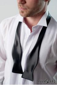 Klasyczna jedwabna czarna wiązana muszka męska