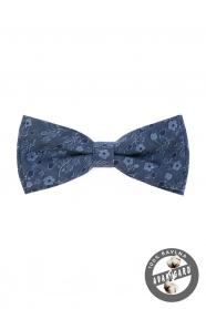 Bawełniana muszka w niebieskie dżinsy z kwiatami