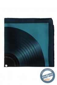Jedwabno-niebieska poszetka, płyta gramofonowa