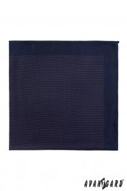 Ciemny niebieski poszetka z delikatnym wzorem