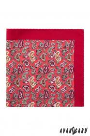 Poszetka Paisley w kolorze czerwonym