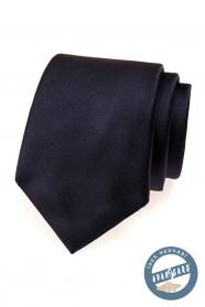 Ciemnoniebieski jedwabny krawat w ozdobnym pudełku