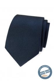 Jedwabny krawat w niebieskim kolorze w pudełku