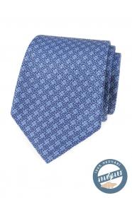 Jasnoniebieski wzorzysty jedwabny krawat