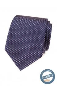 Jedwabny krawat z niebiesko-czerwonym wzorem