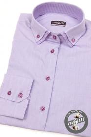 Damska koszula liliowa z długimi rękawami
