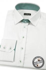 Biała damska koszula z długimi rękawami