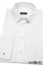 Biała damska koszula na spinki