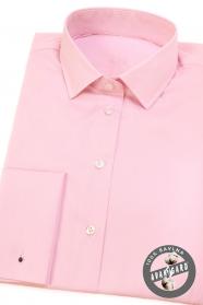 Różowa damska koszula na spinki