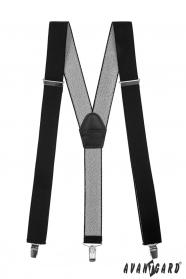 Czarne szelki z zapięciem na klipsy - 35 mm