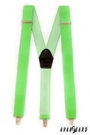 Zielone szelki męskie trzypunktowe