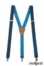 Niebieskie szelki z wzorem