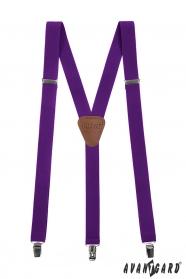Fioletowe męskie szelki z zapięciem na metalowe klipsy