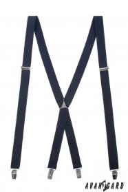 Szelki ciemnoniebieskie z metalową częścią środkową i zapięciem na klipsy