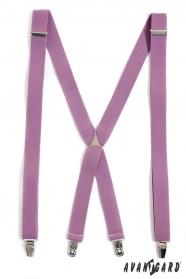 Szelki z metalową częścią środkową i zapięciem na klipsy, kolor liliowy