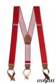 Szelki na guziki męskie czerwone