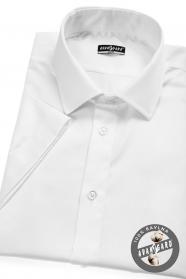 Koszula męska SLIM z krótkim rękawem biała