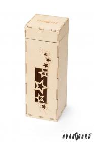 Drewniane pudełko z gwiazdkami
