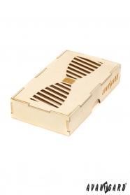 Drewniane pudełko na muszkę