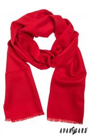 Czerwony szalik męski ze 100% wiskozy
