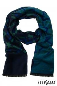 Niebiesko-zielony szal