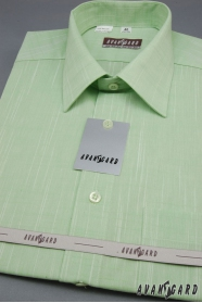 Zielona koszula męska z krótkim rękawem Kiwi