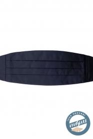 Jedwabny pas smokingowy ciemnoniebieski