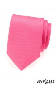 Matowy krawat w kolorze różowym