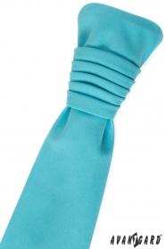 Krawat ślubny turkusowy mat