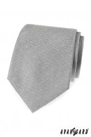 Szary krawat męski ze strukturą