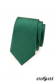 Wąski krawat w zielone kropki
